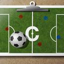 Fußball-Trainer der Zwischenablage